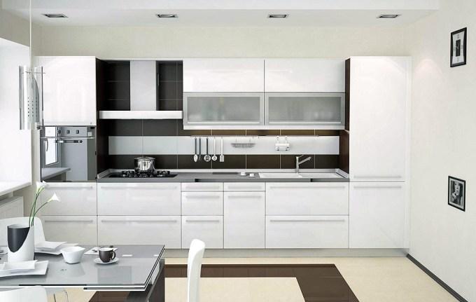 Кухня в белых цветах