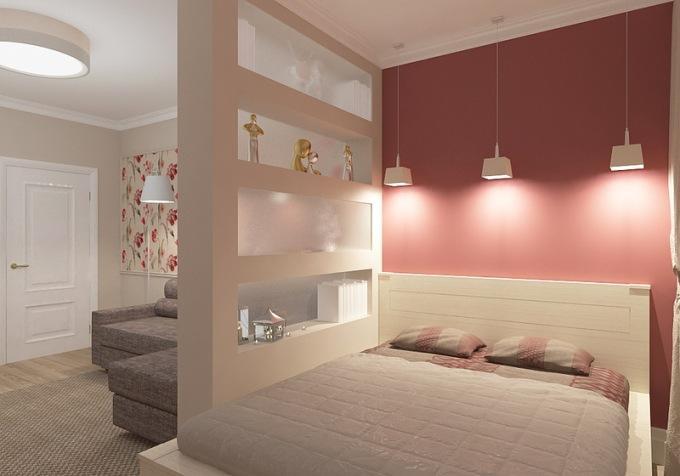 Освещение комнаты в разных зонах