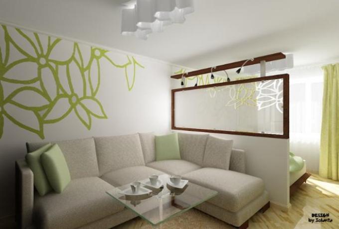 Экономия места при разделении комнат