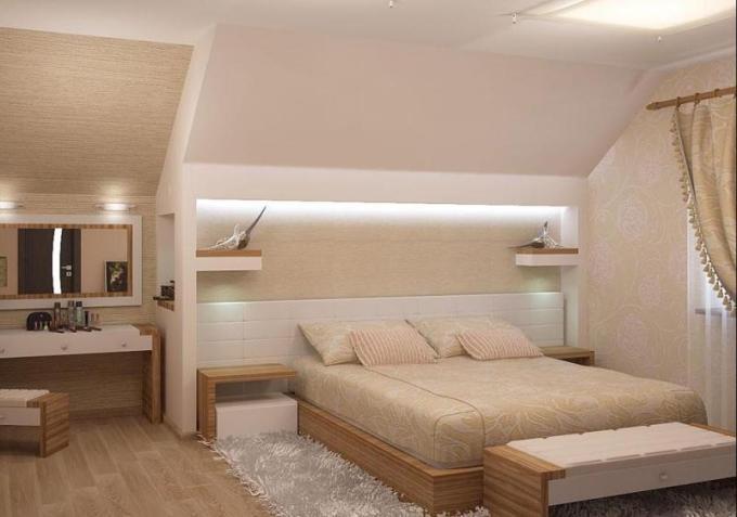 Настенный полки над кроватью