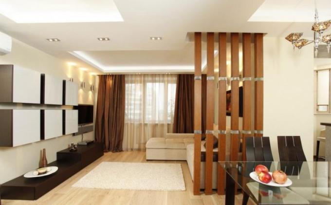 Деревянные декоративные перегородки в интерьере