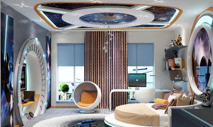 Дизайн комнаты для мальчика космос