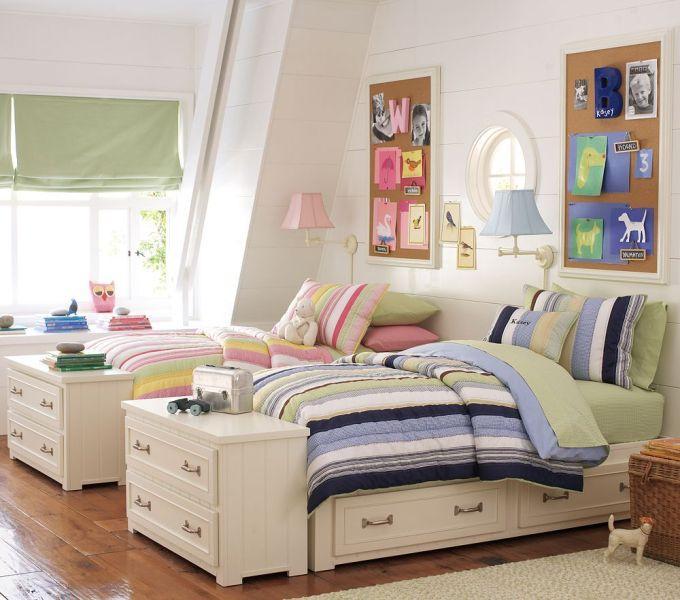 Как оформить детскую комнату для разнополых детей