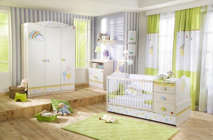 Как оформить комнату для новорожденного фото