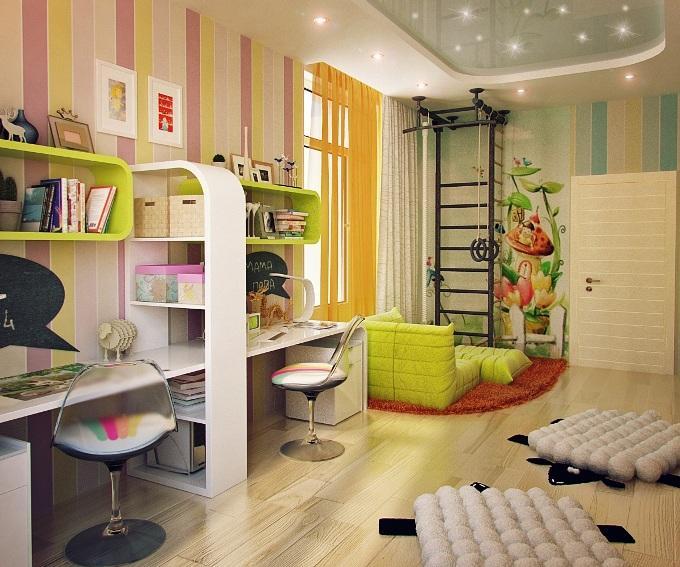 Как оформить детскую комнату - зонирование помещения
