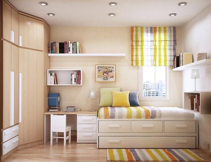 Как оформить детскую комнату 12 м2