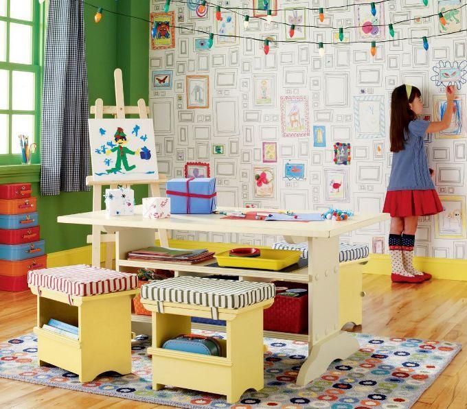 Как оформить детскую комнату с местом для рисования