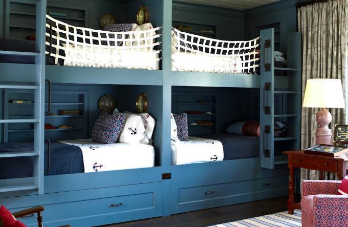 дизайн детской комнаты в стиле шале