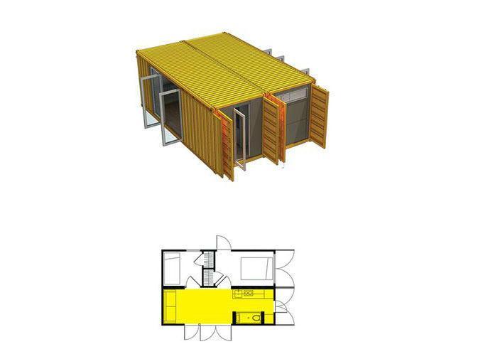 Проект дачного дома из контейнеров