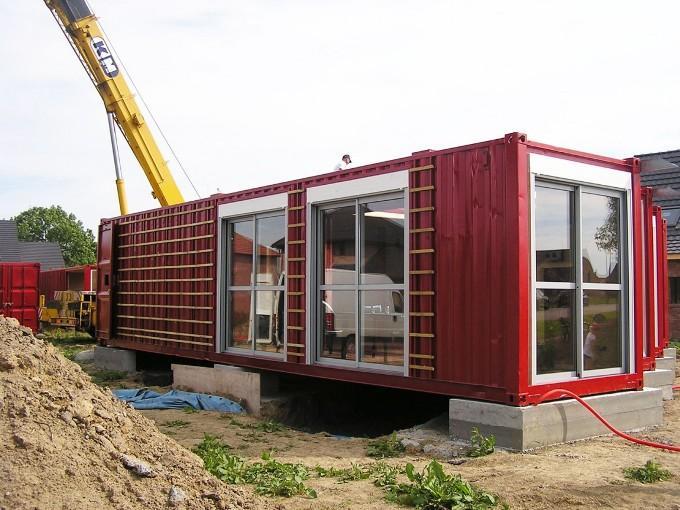Этапы строительства дома из контейнеров