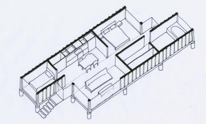 Составление проекта дома из контейнеров