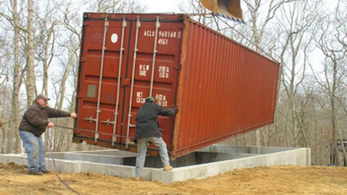 Фундамент под контейнерные дома