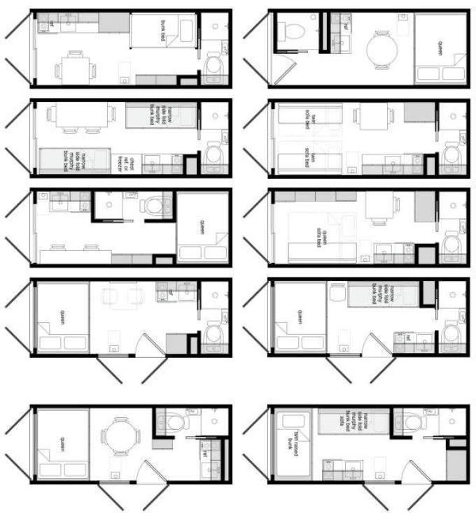 Планировка дома из морского контейнера