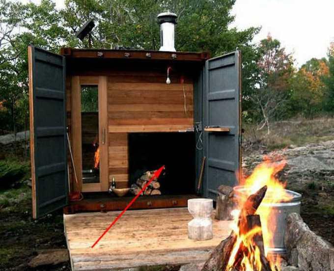 Отопление дома из контейнера