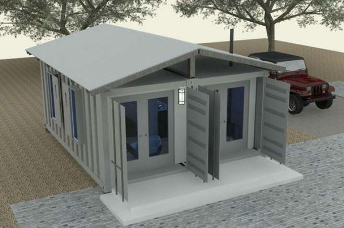 Проект дома из двух рядом стоящих контейнеров
