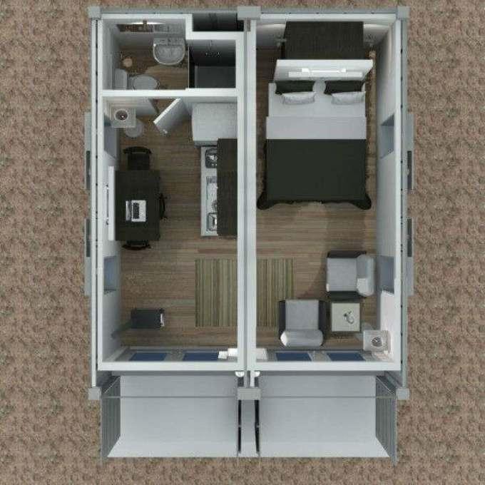 Проект дома из двух контейнеров