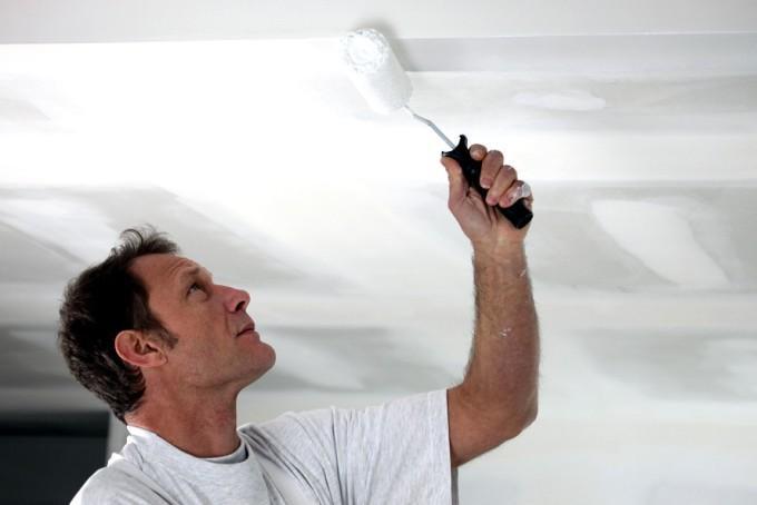 Как подготовить потолки из гипсокартона под покраску