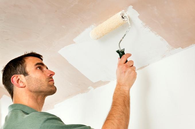 Как подготовить потолок под покраску?