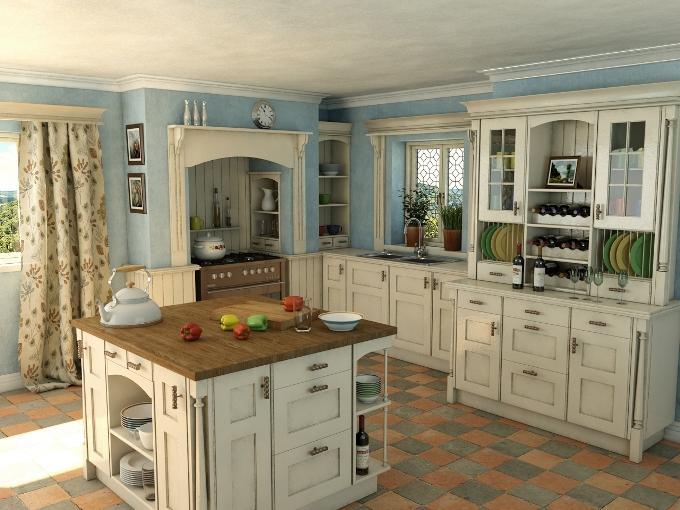 Цветовая палитра кухни в английском стиле