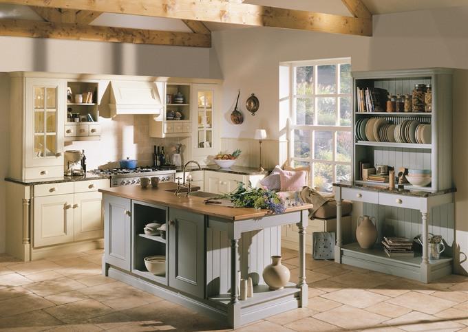 Выбор мебели для кухни в английском стиле