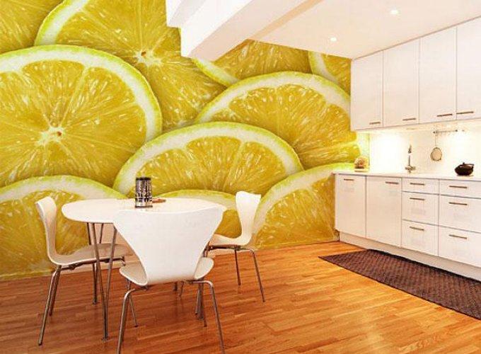 Фотообои с фруктами на кухне