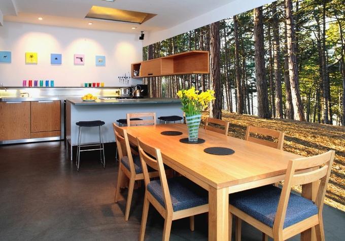 Дизайн кухни с использованием фотообоев