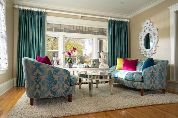Дамаск в оформлении мебели