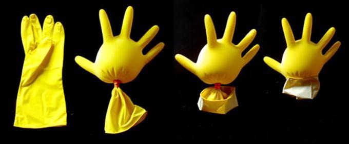 петух своими руками из резиновой перчатки мастер класс