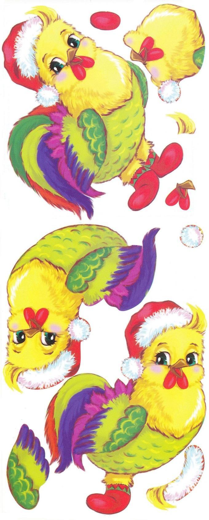 Шаблон новогоднего петуха для открытки