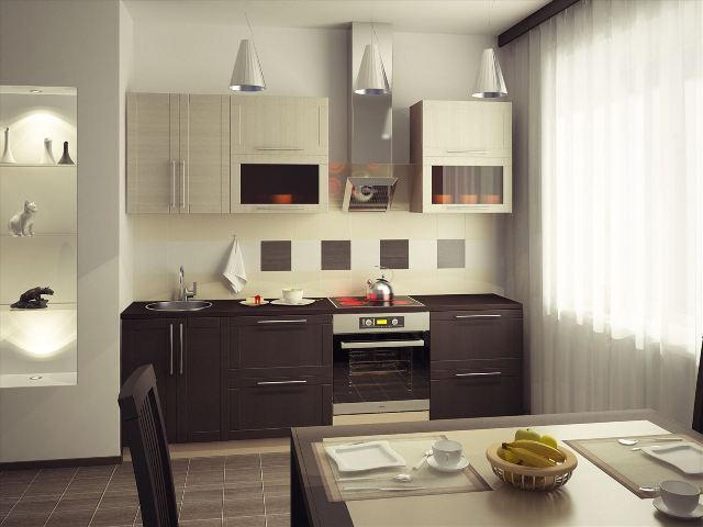 Цвет венге в интерьере кухни