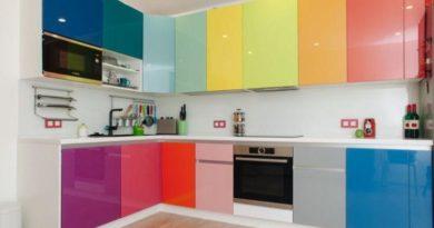 Сочетание цветов в интерьере кухни. Фото