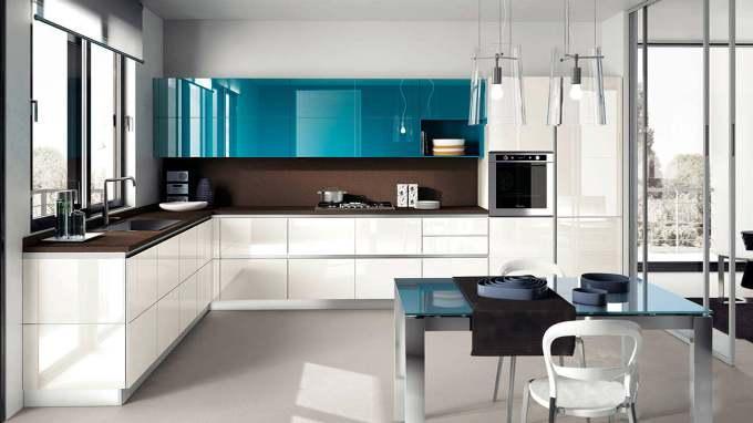 Хроматический интерьер кухни