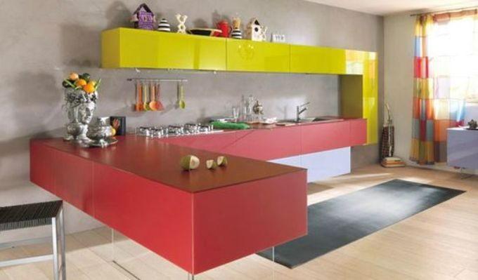 Контрастная или комплементарная цветовая схема кухни