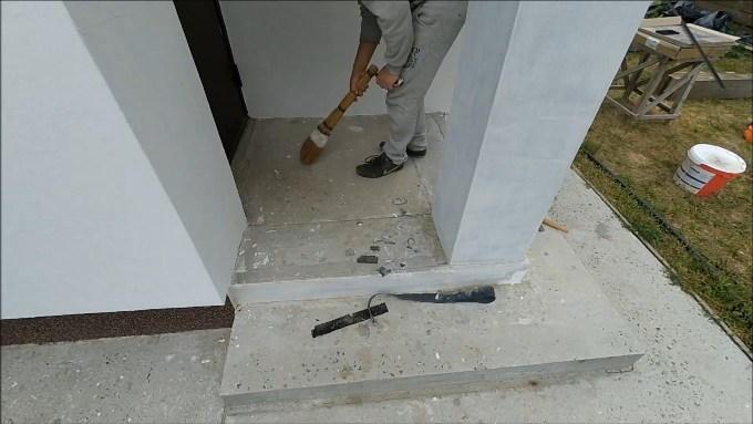 Подготовка основания под укладку плитки на крыльцо