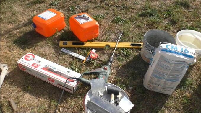 Материалы и инструменты для облицовки крыльца плиткой