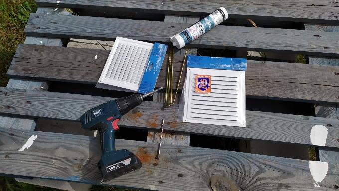 Материалы и инструмент для установки вентиляционных решеток