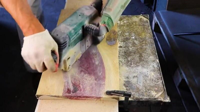 Механическая обработка столешницы