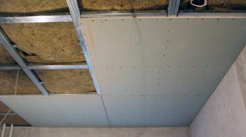 Размер потолочного гипсокартона