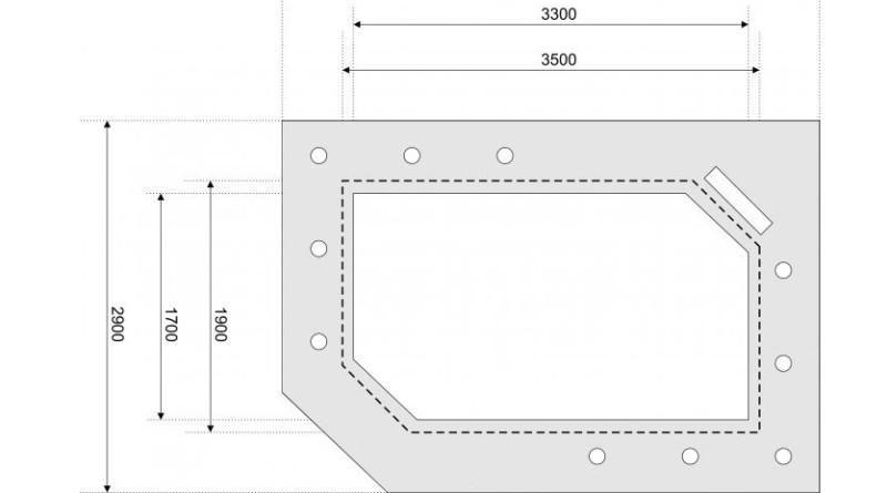 Размеры потолка из гипсокартона: площадь и высота