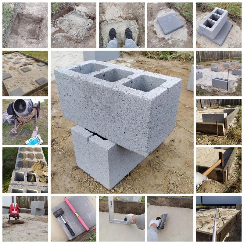 Столбчатый фундамент из шлакоблока. Этапы строительства