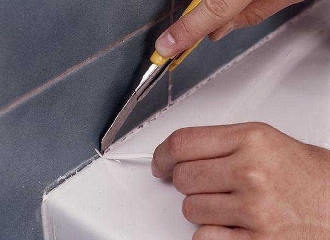 Как удалить герметик с поверхности