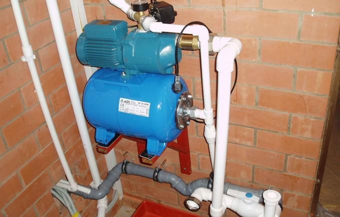 Закачка воды в гидроаккумулятор