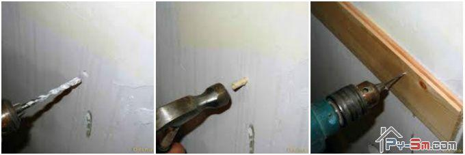 Как прикрепить деревянный брус к бетонной стене
