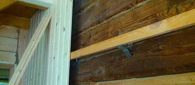Как прикрепить деревянный брус к деревянной стене