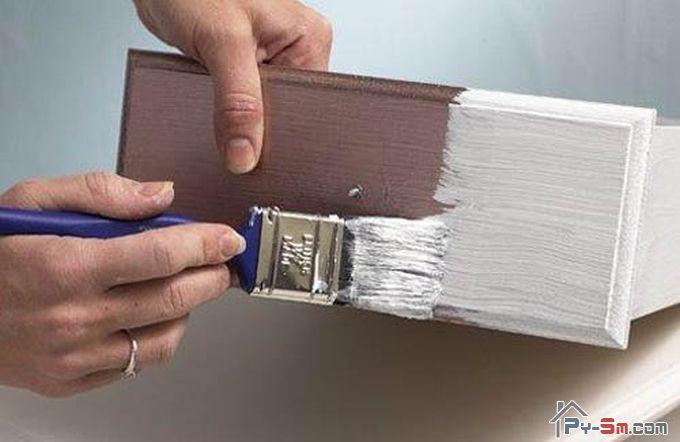 Покраска шкафа из ДСП