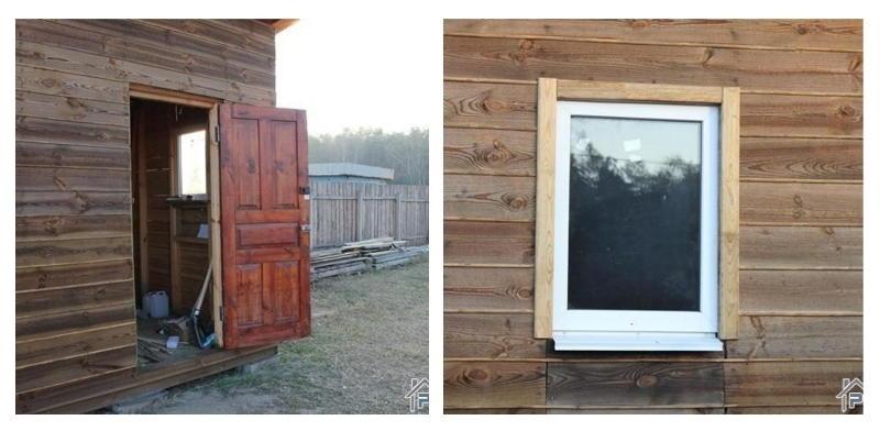 Установка окон и дверей в сарае