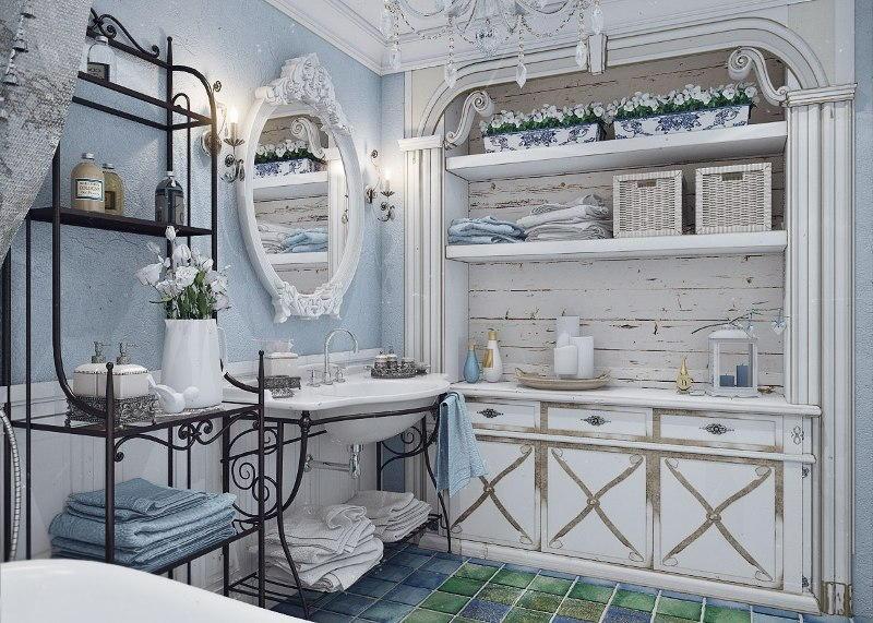 Ванная комната в стиле винтаж