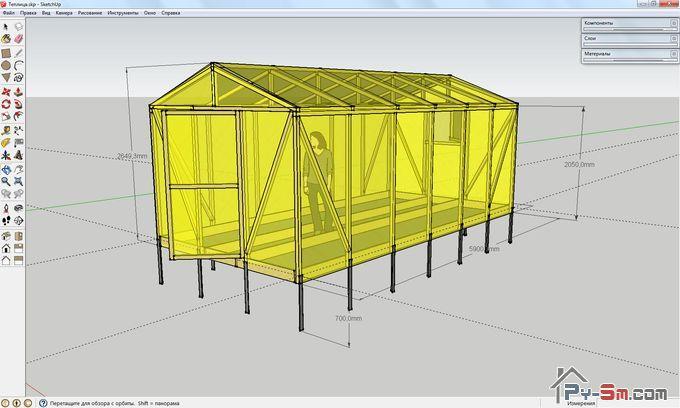 Проект теплицы и расчет материалов