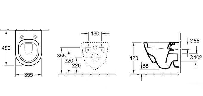 Высота установки подвесного унитаза