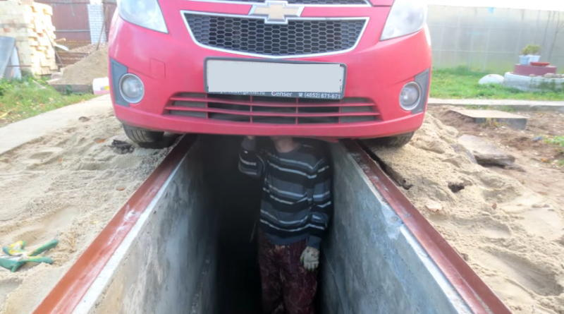 Смотровая яма на улице для машины